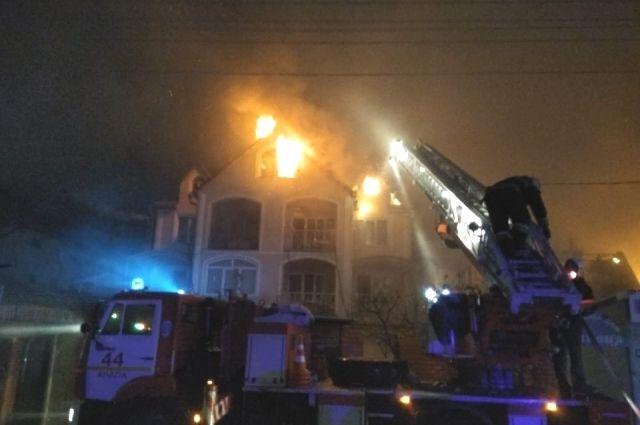 Пожар в Комсомольске.