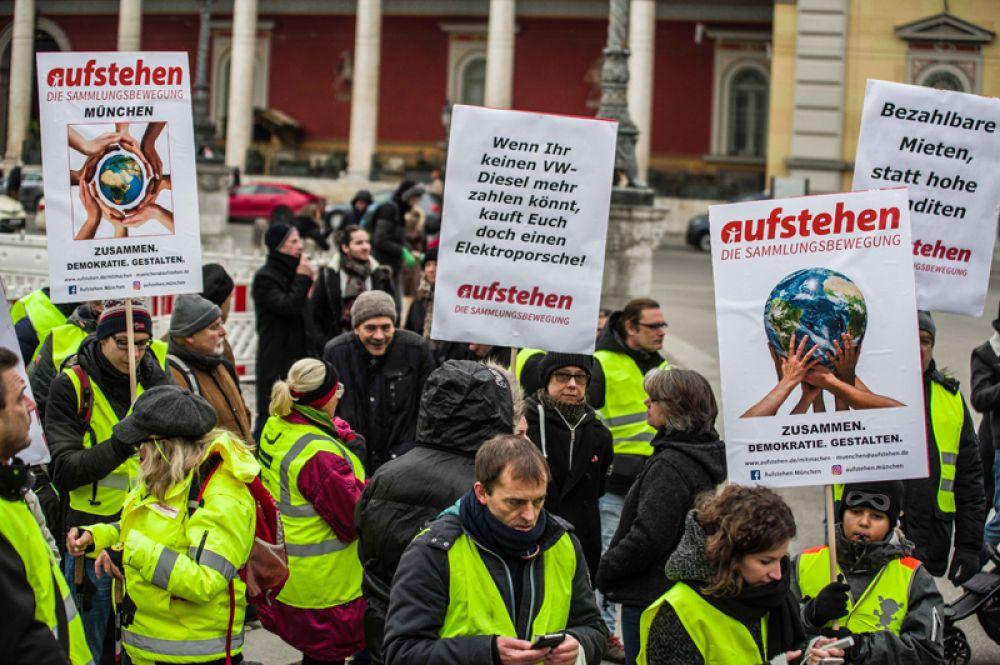 Первые подобные демонстрации прошли в Мюнхене.