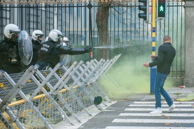 Акция протеста, прошедшая в выходные в Брюсселе, третья по счету для бельгийской столицы.