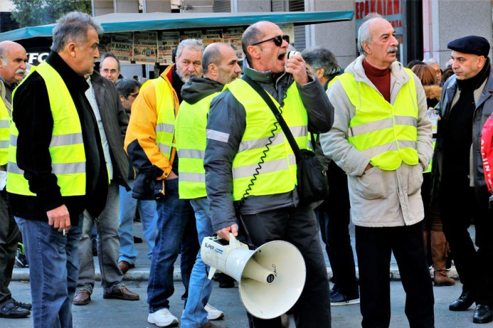 Протесты «желтых жилетов» в Греции.
