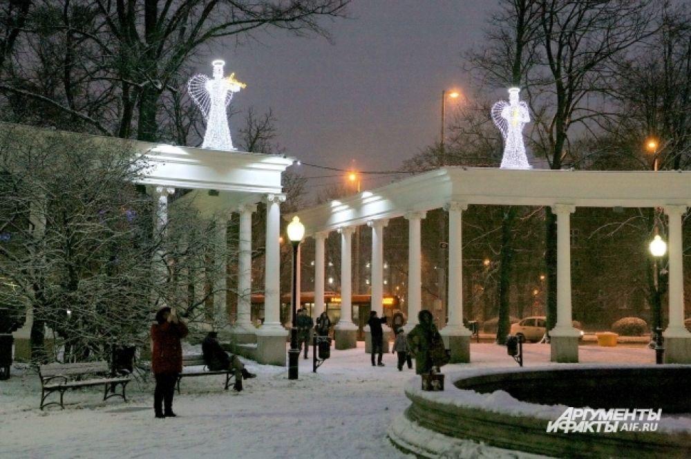 Улицу Театральную «посетили» ангелы.