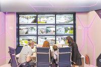 Демонстрационная зона Городской системы видеонаблюдения в павильоне «Умный город» на ВДНХ.