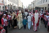 В Казани снова пройдет парад Дедов Морозов.