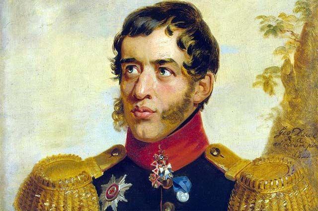 Портрет С. Г. Волконского работы Джорджа Доу.
