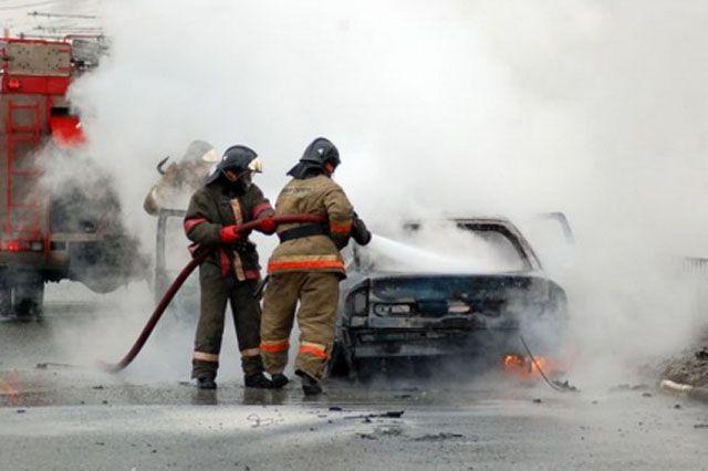 Сгорело авто.