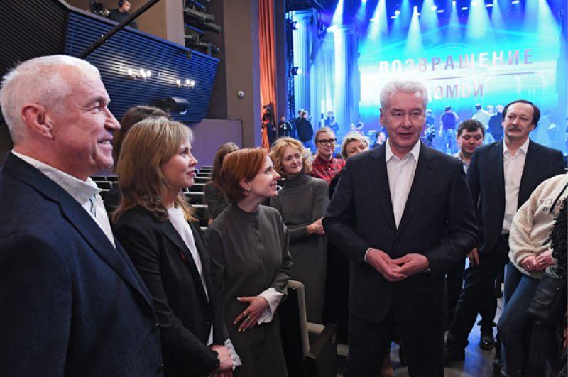 Мэр Москвы Сергей Собянин во время праздника «Возвращение домой» в театре «Современник».