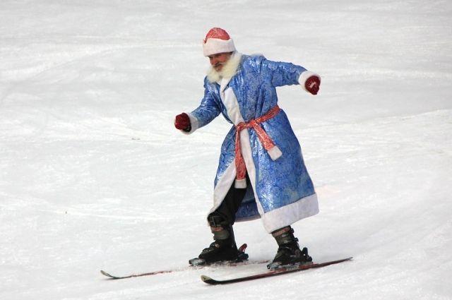 Дед Мороз решил прогуляться по лесу.