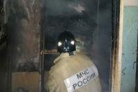 От огня в квартире в посёлке Кудиново пострадал только коридор.