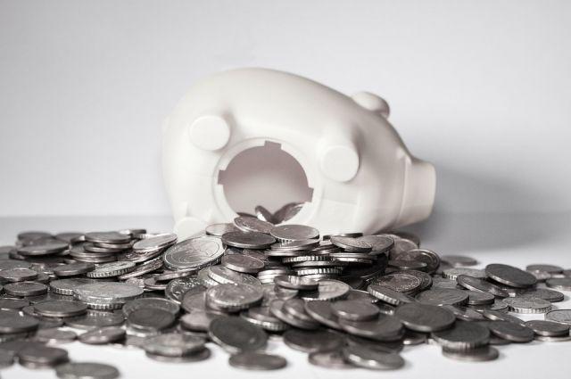 Должник разбил свинью-копилку, чтобы собрать нужную сумму.