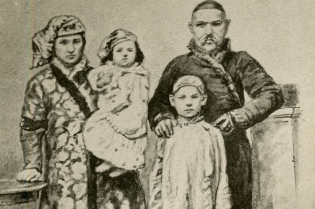 Традиционная татарская семья до революции.