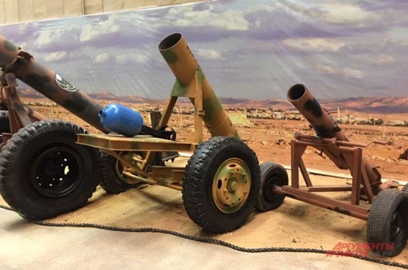 «Баллонометы», стреляющие начинёнными аммиачной селитрой газовыми баллонами.