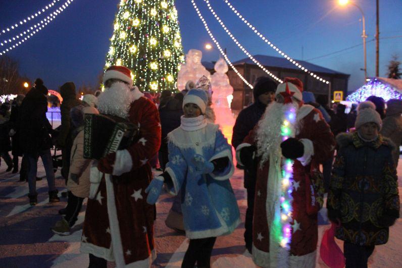 Новогодняя елка в Ялуторовске, 2018.