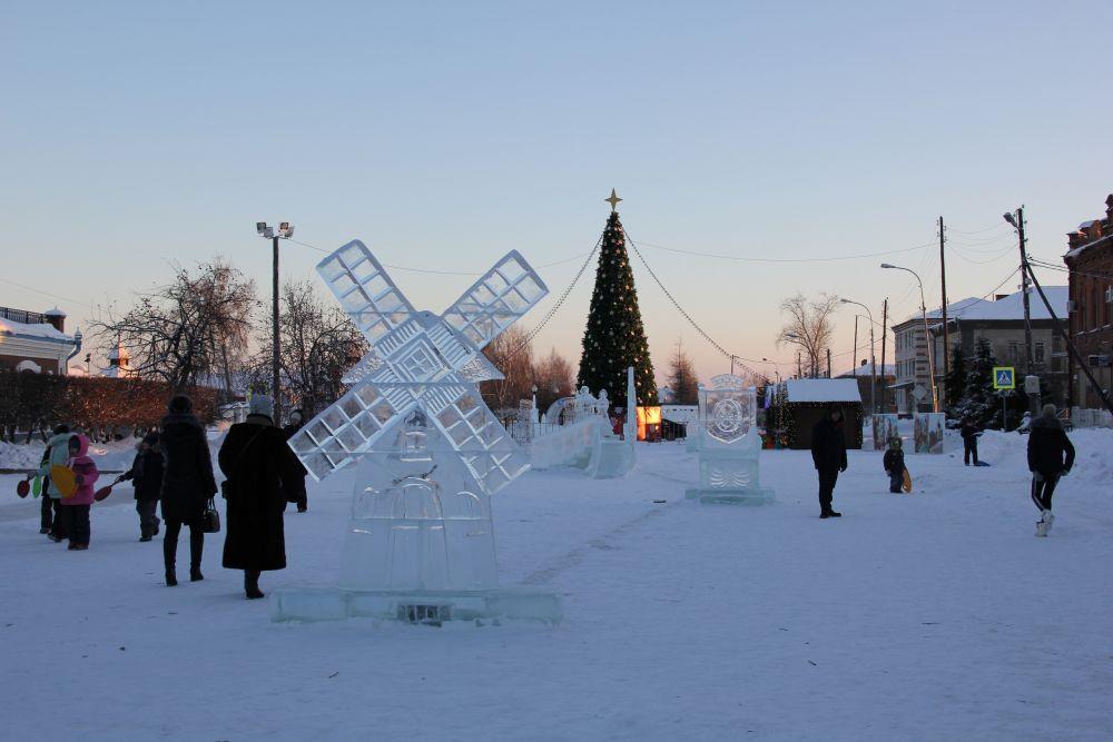 Ледовый городок в Ялуторовске.