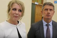 Бывшая заместитель главы администрации Клинцов Людмила Лубская и мэр Олег Шкуратов.