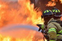 Пожар произошёл в Татарске.