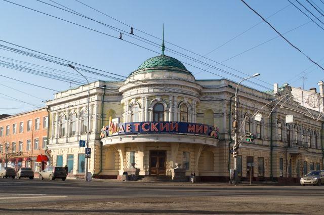 «Детский мир» размещается в историческом здании.