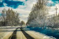 На трассах в НСО ограничивают движение из-за морозов.