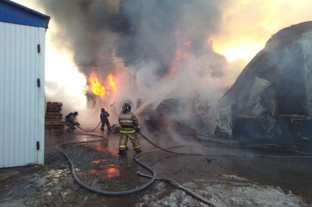 В пожаре пострадали дети.