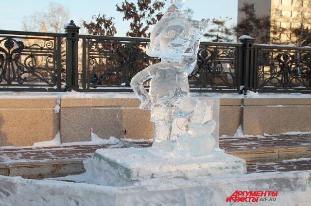 В сквере Кирова возвели ледовый городок.
