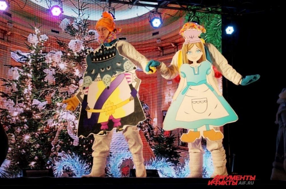 Жители Иркутска увидели целый спектакль, в котором проявили себя сказочные персонажи.