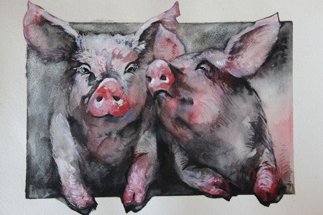 Символ нового года - «Свинки» А. Головановой.