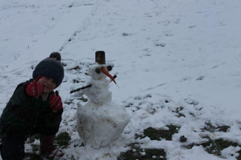 Камиль Ибрагимов, 5 лет. Номинация «Самый необычный снеговик-2019».