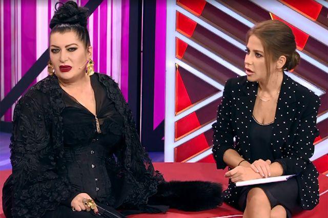 Графиня Донна Луна и Юлия Барановская в ток-шоу «Мужское/Женское».