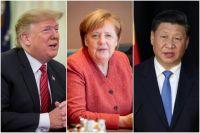 Дональд Трамп, Ангела Меркель и Си Цзиньпин.