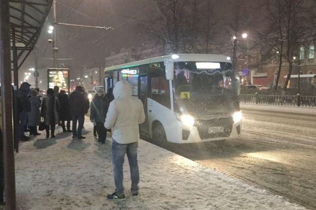В ночь на 1 января до 04.00 будут ходить автобусы №№10, 14, 20, 32, 53, 68, 77 и два трамвайных маршрута.