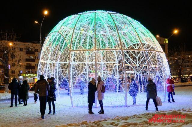Новый год можно встретить на улицах города.