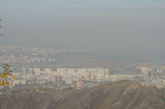 Смог над Красноярском - явление регулярное.