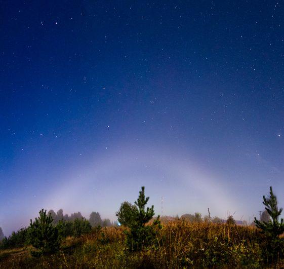 Лунная туманная радуга. 26 августа 2018