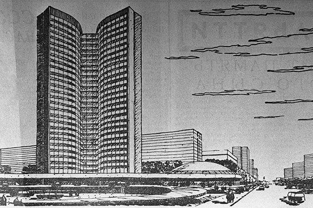 Проект комплекса зданий на Новом Арбате для Совета Экономической Взаимопомощи.
