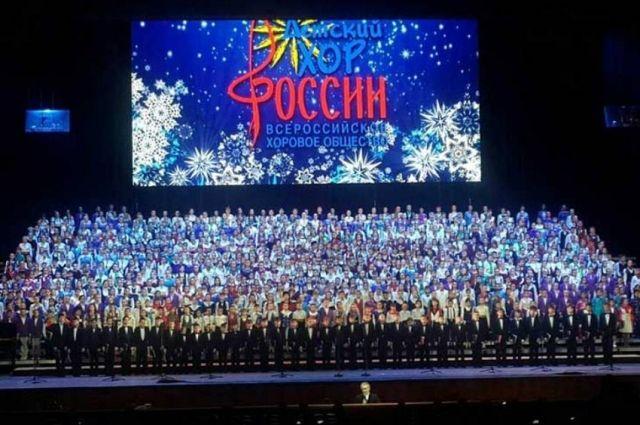 Оренбуржцы приняли участие в новогоднем концерте Детского хора России.