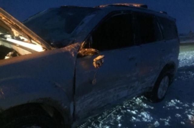 У г.Кувандык в ДТП пострадали пассажиры иномарки.