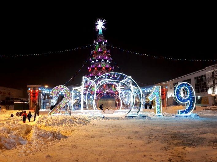 Елка-2019 на Цветном бульваре в Тюмени.