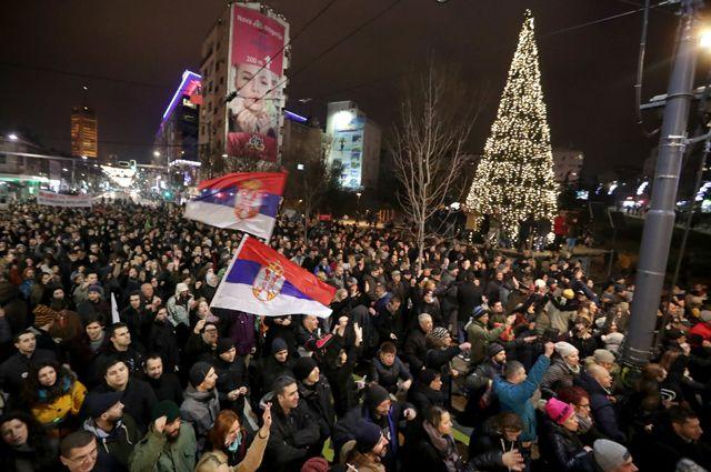 Акция протеста в Белграде