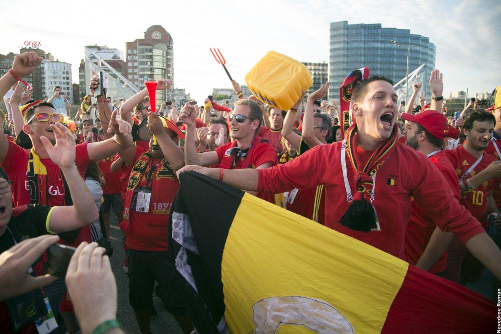В 1/8 финала в Ростове-на-Дону сыграли Бельгия и Япония.