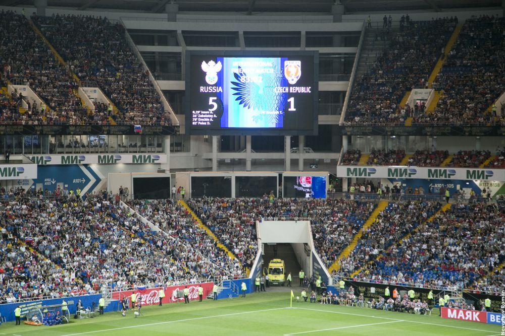 На стадионе «Ростов-Арена» команда Станислава Черчесова принимала в товарищеском матче национальную команду Чехии и разгромила соперника со счетом — 5:1.