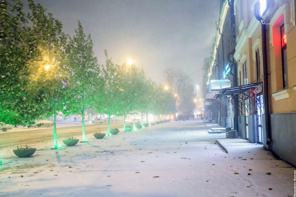 12 ноября первый снегопад в Ростове.