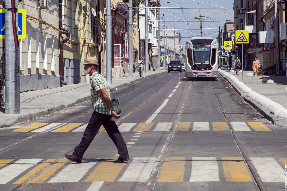 В июле после реконструкции улицы Станиславского начали ходить трамваи.