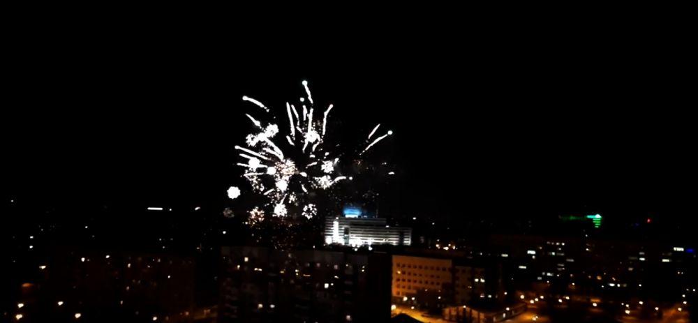 Салют. Новый год-2019 в Тюмени.