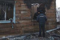 Пожар произошёл под утро 1 января.