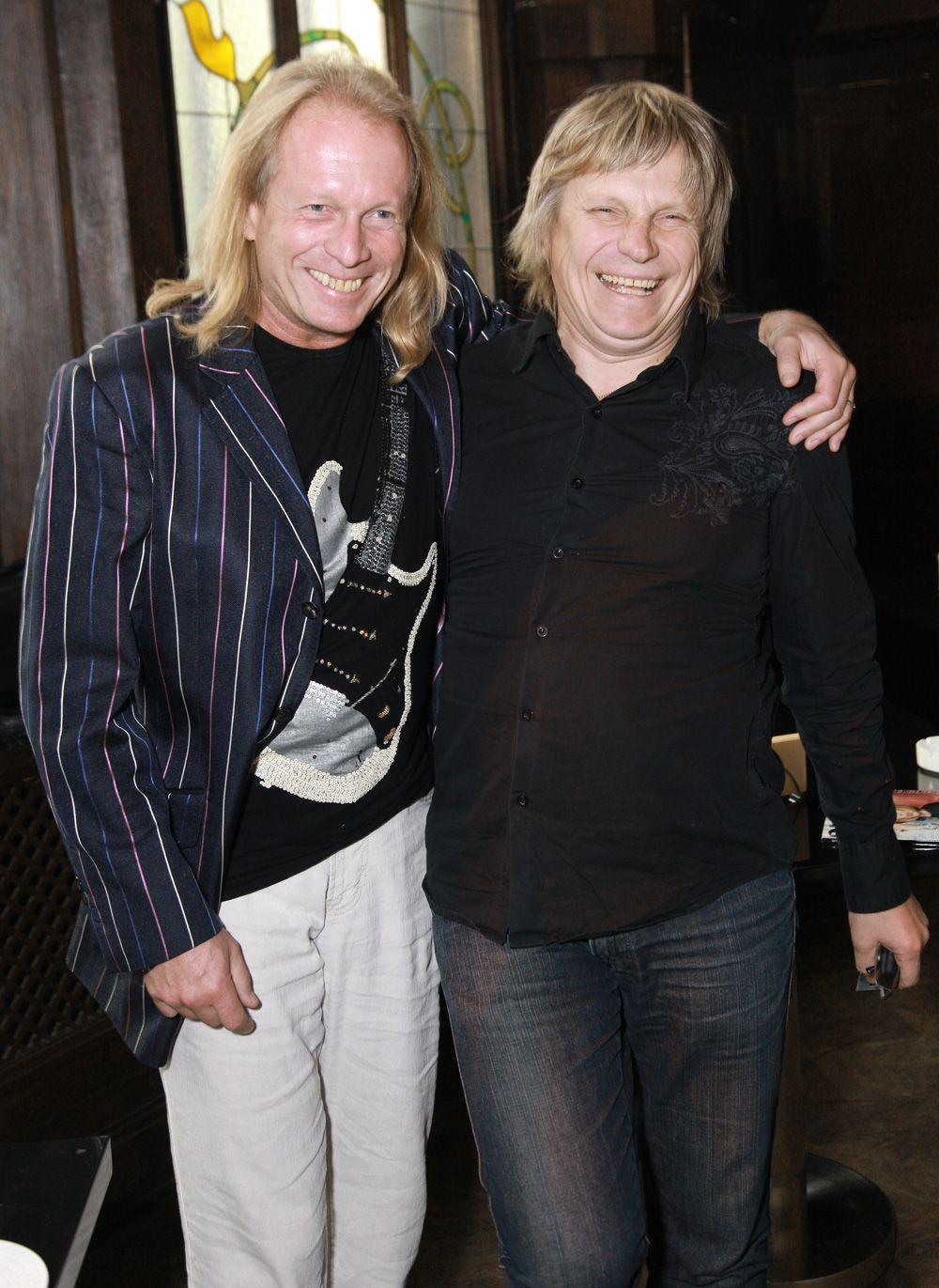 Крис Кельми и певец Виктор Салтыков. 2010 год.