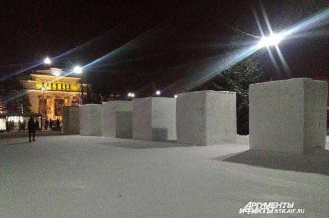 В Новосибирске начался ежегодный фестиваль снежных скульптур