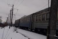 На Закарпатье высоковольтный провод упал на пассажирский вагон.