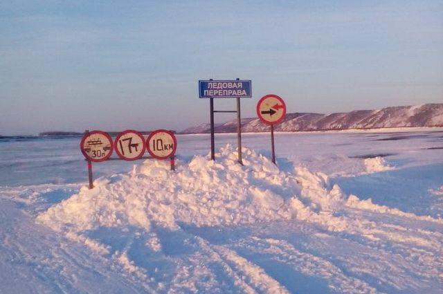 Толщина льда на ледовой переправе более 35 сантиметров.