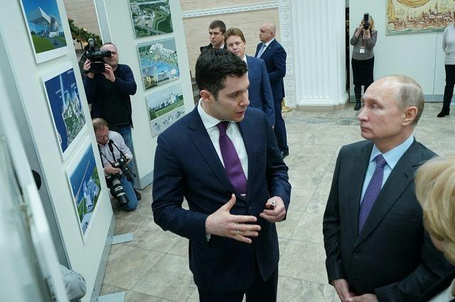 Владимир Путин и Антон Алиханов в Калининграде