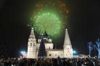 Главные новогодние торжества прошли на Советской площади в Ярославле.
