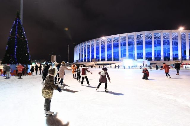 Каток у стадиона «Нижний Новгород»